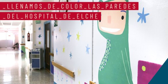 Paredes pinta junto a Believe in art las Paredes del Hospital de Elche