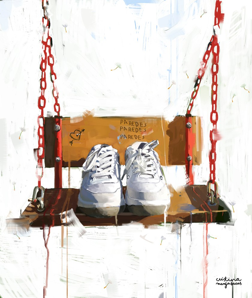 Ilustración Zapatillas Paredes Estrella por Cristina Manjabacas