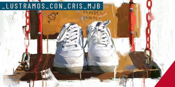 Ilustracion Cristina manjabacas version ilustrada de las Zapatillas Paredes Clásica Estrella