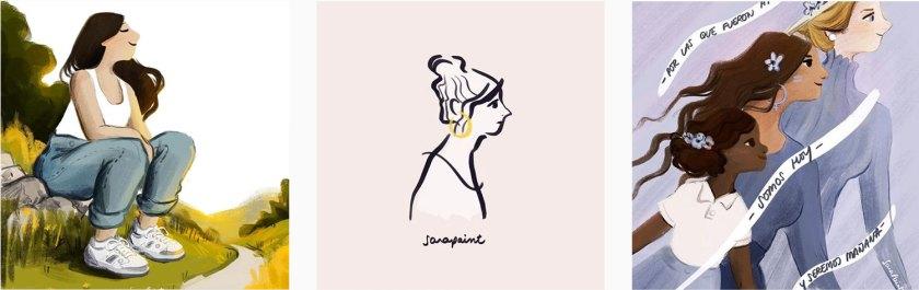 Ilustraciones Día de la Mujer Sara Paint Blog Paredes