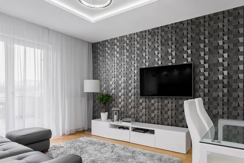 comment decorer le mur tv avec du bois