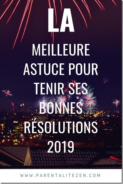 Tenir ses bonnes résolutions 2019 pinterest