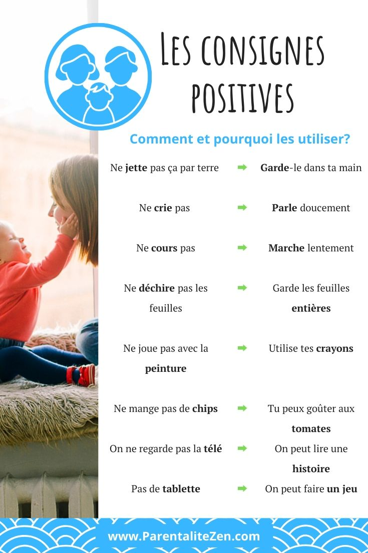 Les consignes positives - Pinterest