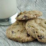 Dark Chocolate Pistachio Chocolate Chip Cookies