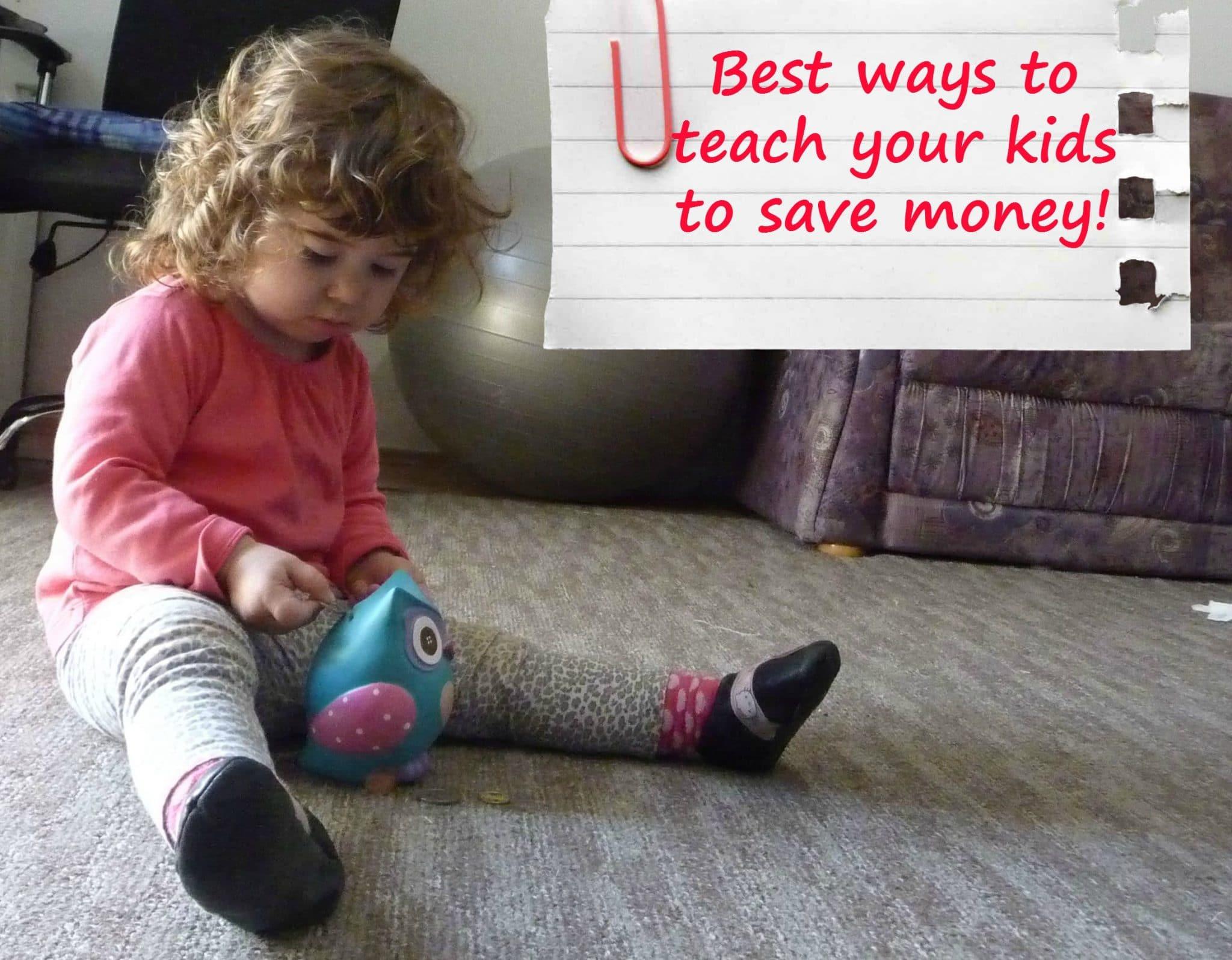 teach kids to save money