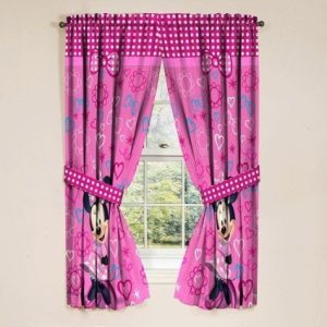 Disney Minnie Mouse Window Panels Curtains Drapes Pink