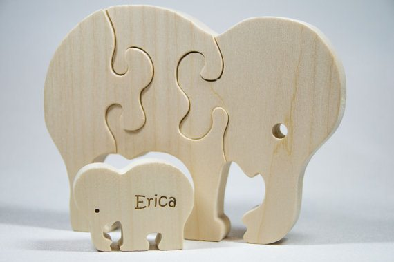 Elephant Puzzle Giveaway from Little Wooden Wonders