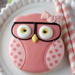 Geeky Girl Owl Cookies