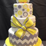 Grey and Yellow Owl Cake