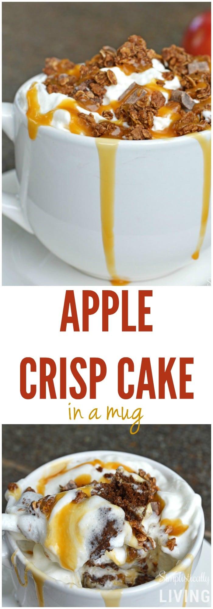 Apple Crisp Cake in a Mug