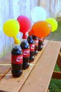 How to blow up a balloon using soda