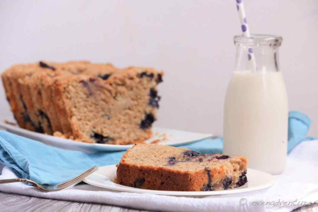 Peanut Butter Blueberry Banana Bread