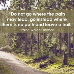 leave a trail