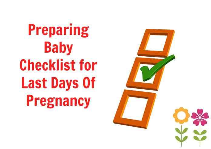preparing baby checklist