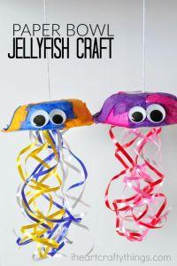 Paper Bowl Jellyfish Craft