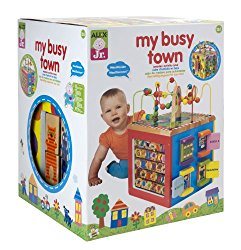 ALEX Jr. My Busy Town Wooden Activity Cube