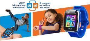 smartwatch and three