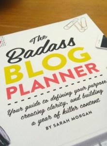 badass blog planner portrait
