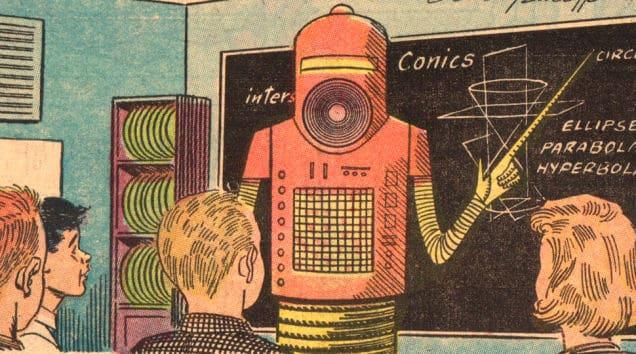 Années 50/60 : des robots professeurs