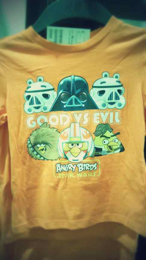 T-Shirt enfant Angry Birds Star Wars Good Vs. Evil