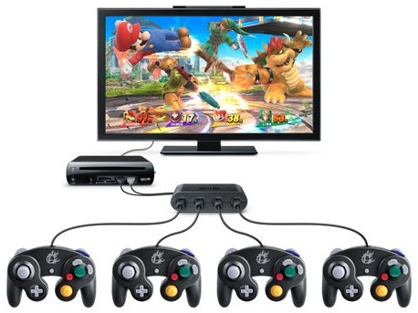 Super Smash Bros Wii U et ses manettes GameCube