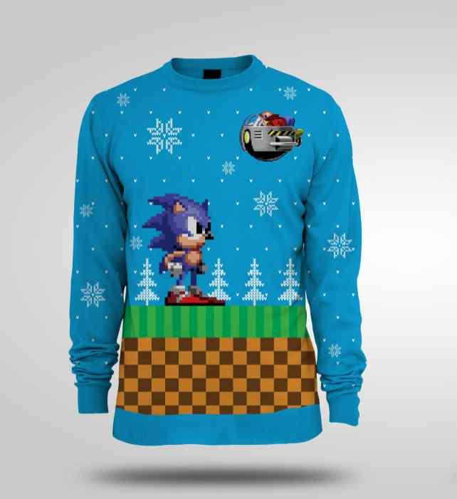 Pull de Noël Sonic