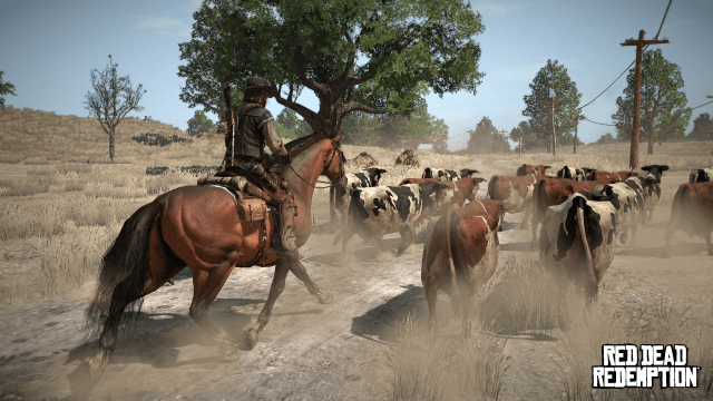 Red Dead Redemption, ses cow-boys, ses vaches