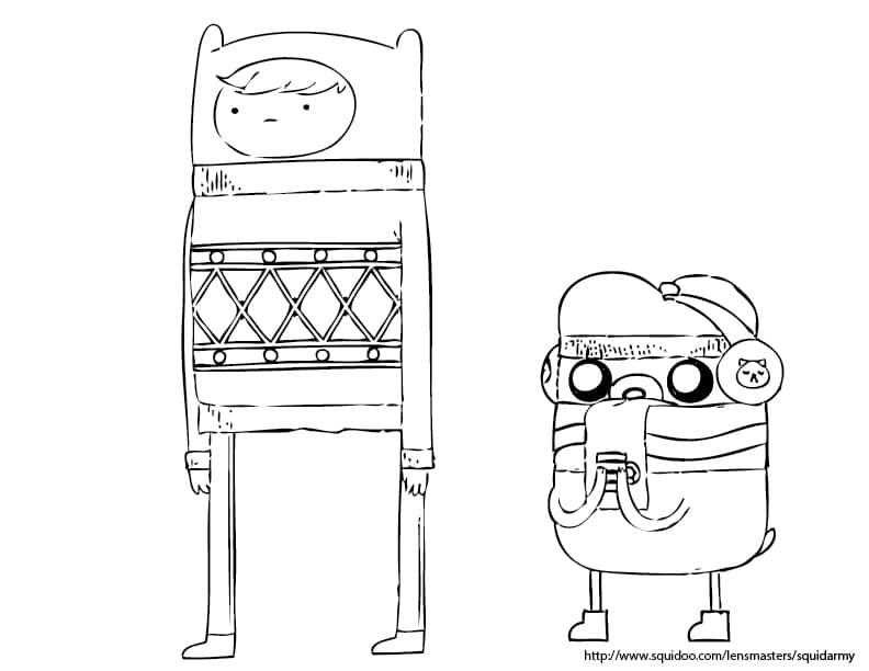 Coloriages de Noël : Adventure Time, Bob l'éponge, Toy