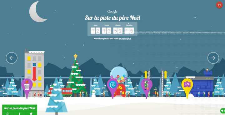 Google sur la piste du Père Noël