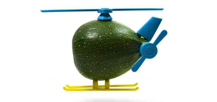 Courgette hélicoptère