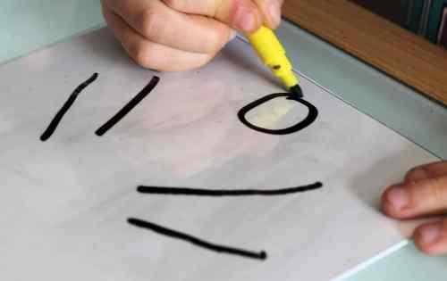 Essai par U. (5 ans) : l'idée générale du dessin est la bonne...
