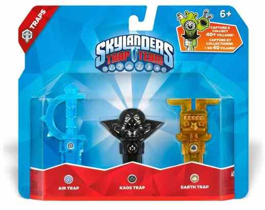 Pack de 3 pièges Skylanders Trap Team - Air, Kaos, Terre