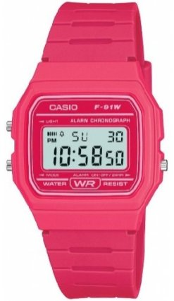 Casio F91W Rose