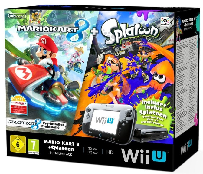 Pack Wii U Splatoon Mario Kart 8