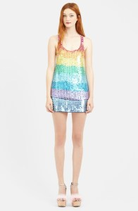 sequined racerback tank