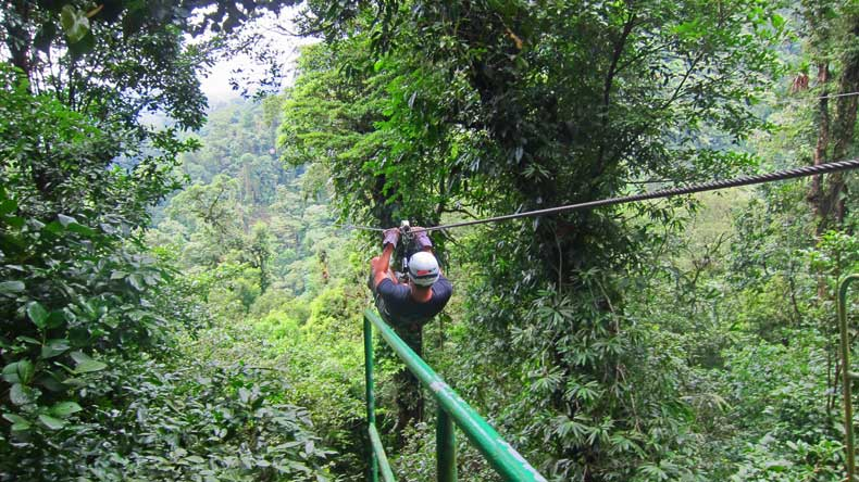 Parenthood and Passports- zip-lining in Costa Rica