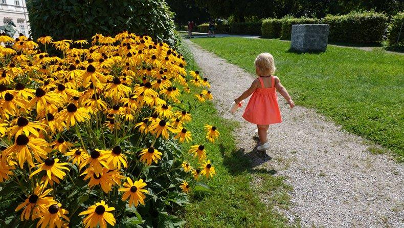 Parenthood and Passports - Mirabell Garden