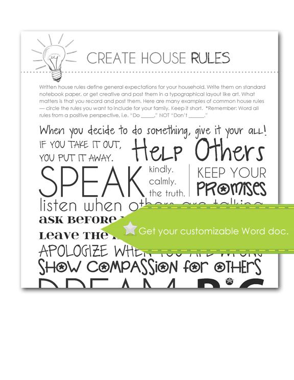 Create House Rules, Customize