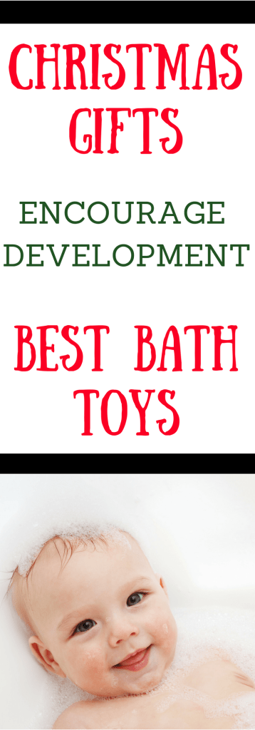Bath time is a great place for your baby or toddler to have fun and learn. These bath toys are great gifts for babies or toddlers. Bath toys that encourage imaginary play, motor skills, language skills, and cognitive skills.