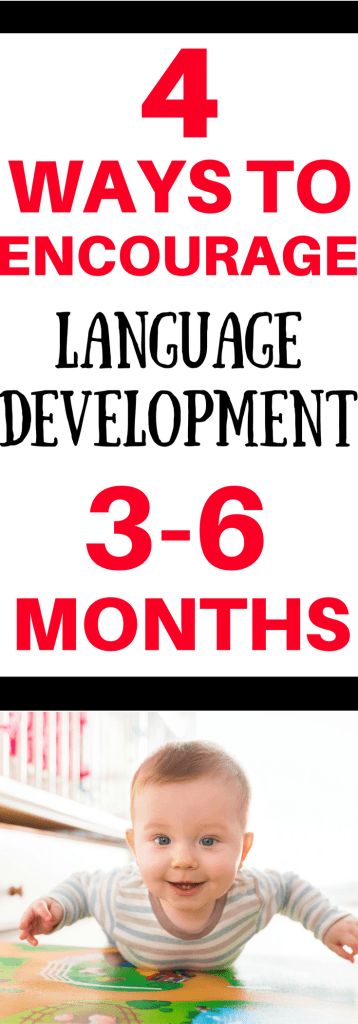 Is your baby starting to make some new sounds? Here are 3 language skills to look for in babies 3-6 months. Learn simple ways to encourage language development in your baby.