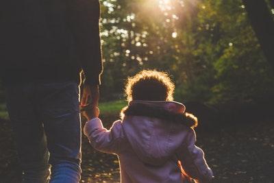 Divorced dads and children