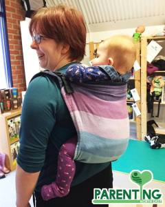 rebecca and baby wearing a buckled onbuhimo
