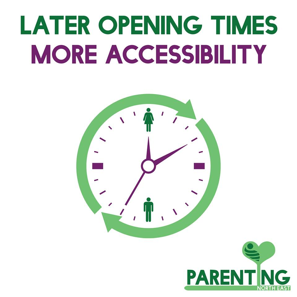 Later  opening times and more accessibility