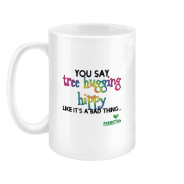 Tree Hugging Hippy – Large 15oz Mug