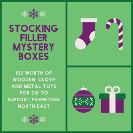 £10 Wooden/Eco Toy Stocking Filler box