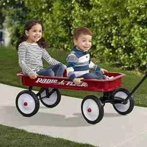 baby-ride-with-Radio-Flyer-Classic-Red-Wagon