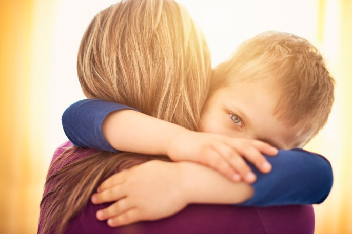 Image result for hugging child
