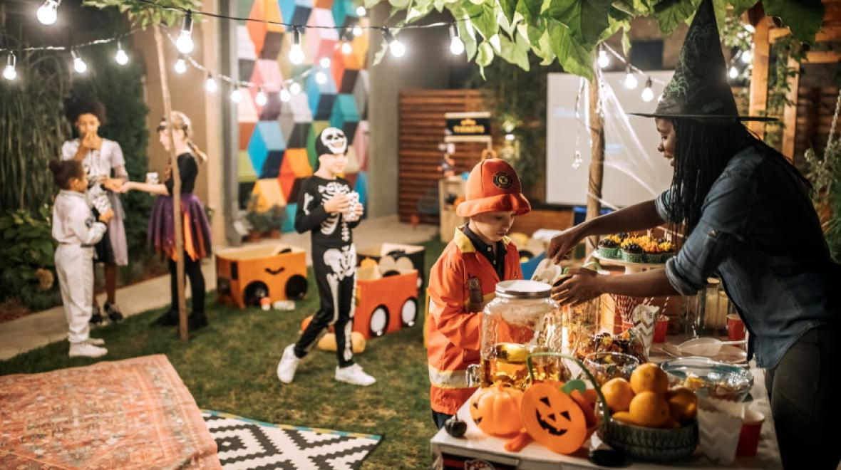 Bottles with halloween labels diy: 8 Inexpensive Indoor And Outdoor Halloween Party Games For Kids Parentmap