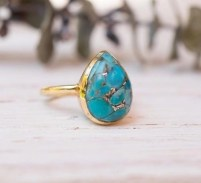Holiday Gift For Mom Turquoise Ring