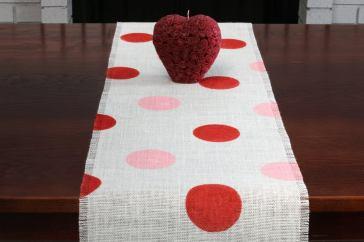 Valentine's Day At Home Polka Dot Runner